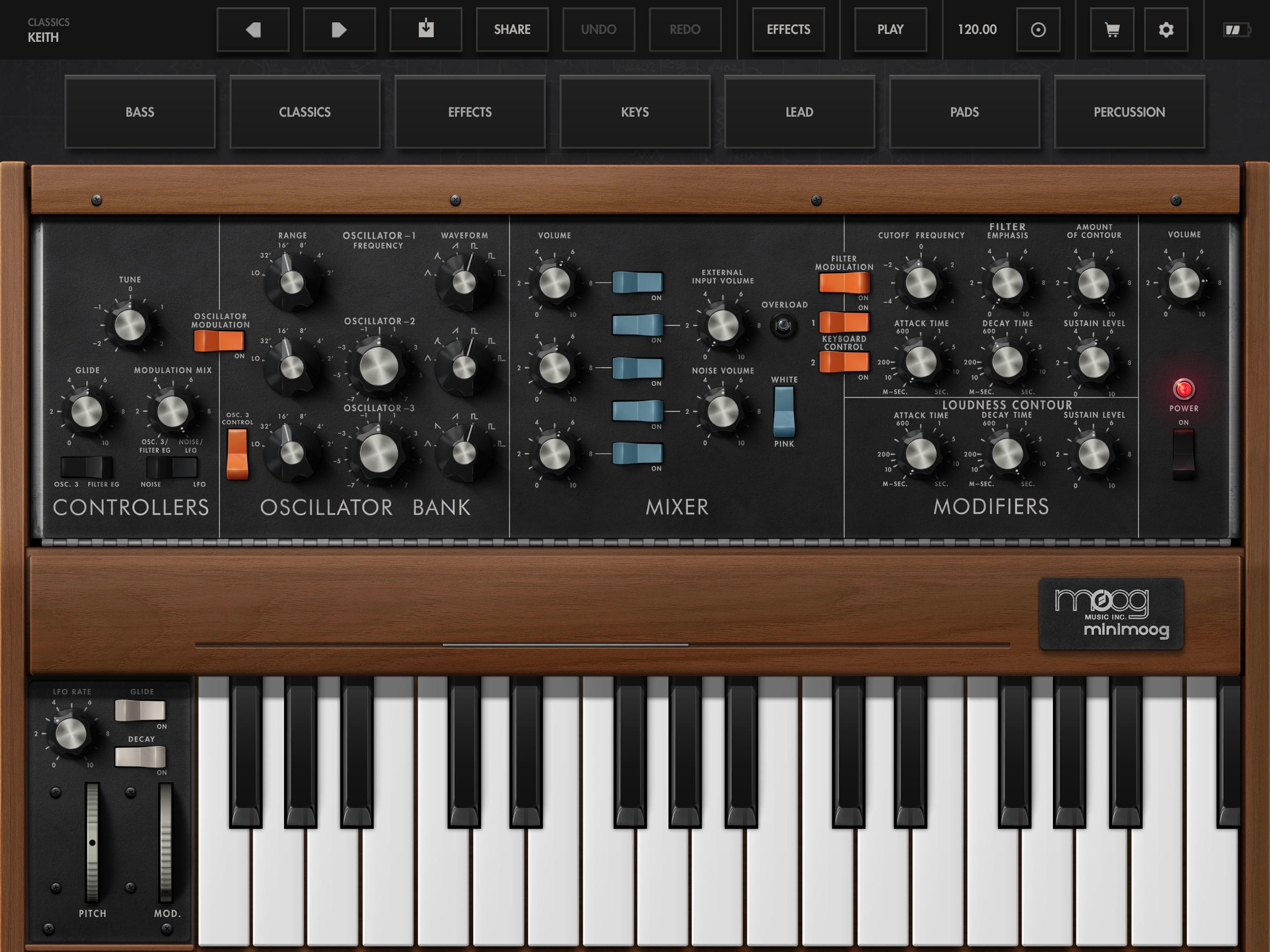 Minimoog Model D Synthesizer App | Moog